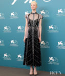 Andrea Riseborough In Temperley London &  Georges Hobeika Couture - 'ZeroZeroZero' Venice Film Festival Photocall & Premiere