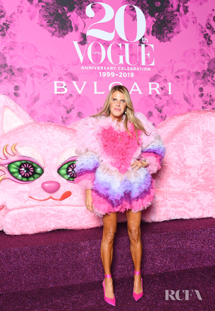 Anna Dello Russo Serves Up No Surprises In Tomo Koizumi For The Vogue Japan x Bvlgari Event