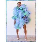 Beyonce's Opts For High-Drama In Ruffles & Feathers