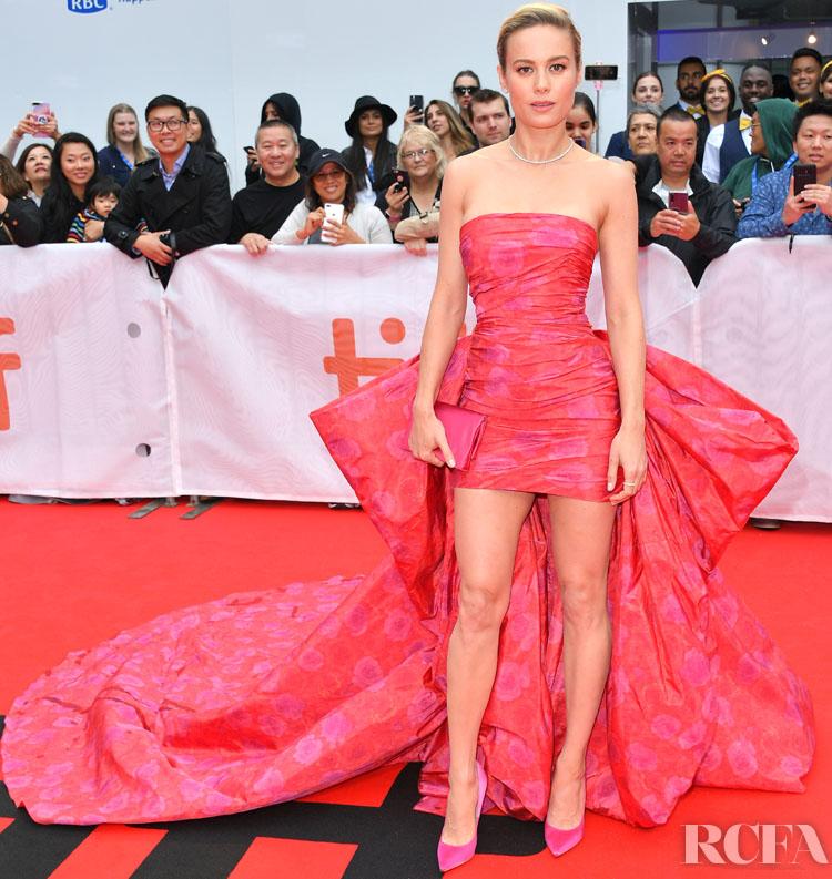 Brie Larson In Giambattista Valli Haute Couture - 'Just Mercy' Toronto Film Festival Premiere