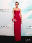 Brie Larson In Raspberry Rasario For The Tiffany & Co 'Vision & Virtuosity' Exhibition