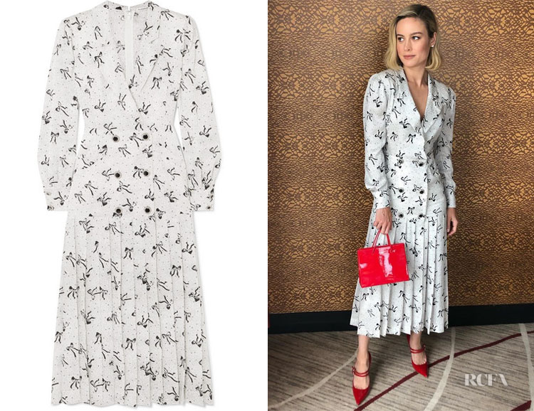 Brie Larson's Alessandra Rich Midi Dress