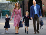 Catherine, Duchess Of Cambridge Recycles Her MICHAEL Michael Kors Dress For Princess Charlotte's First Day At School
