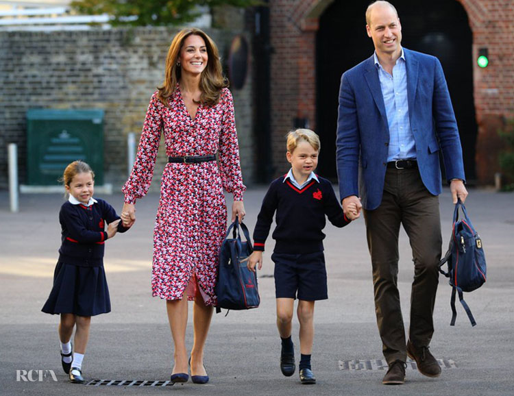 Catherine, Duchess Of Cambridge Recycles Her MICHAEL Michael Kors For Princess Charlotte's First Day At School