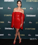 Cobie Smulders Smolders In Red For The 'Stumptown' LA Premiere