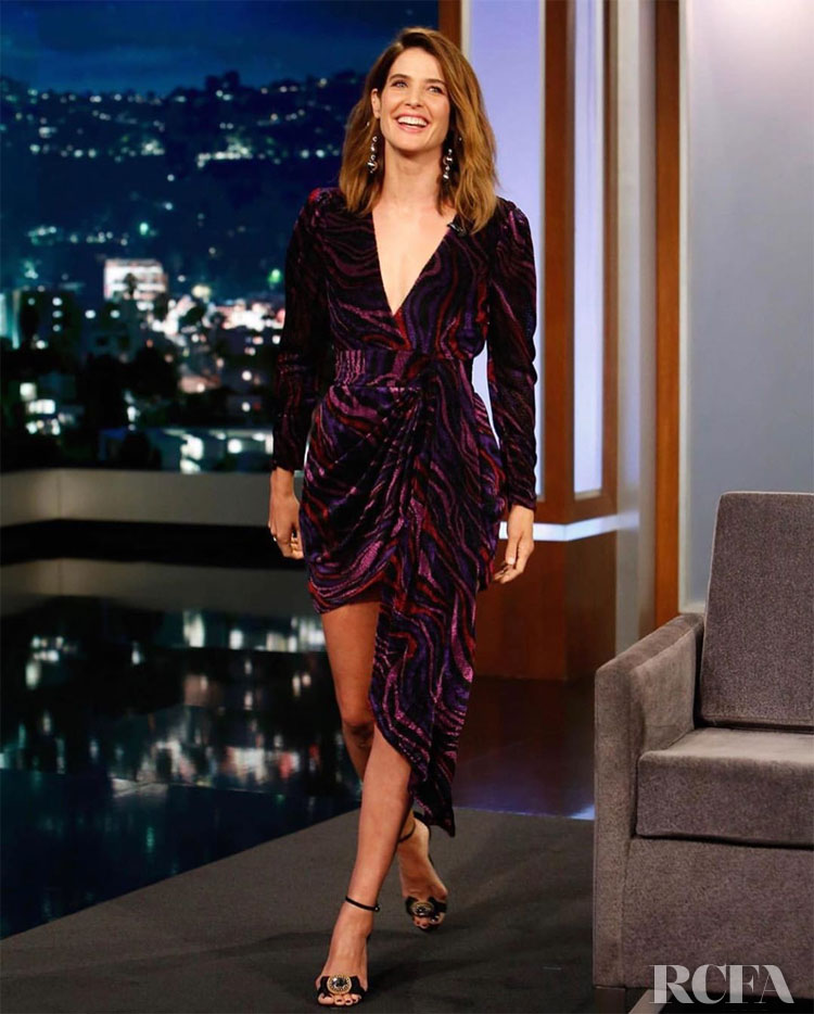 Cobie Smulders Wears Prabal Gurung On Jimmy Kimmel Live