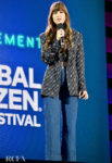 Dakota Johnson's Gianni Versace Logo Look For The 2019 Global Citizen Festival
