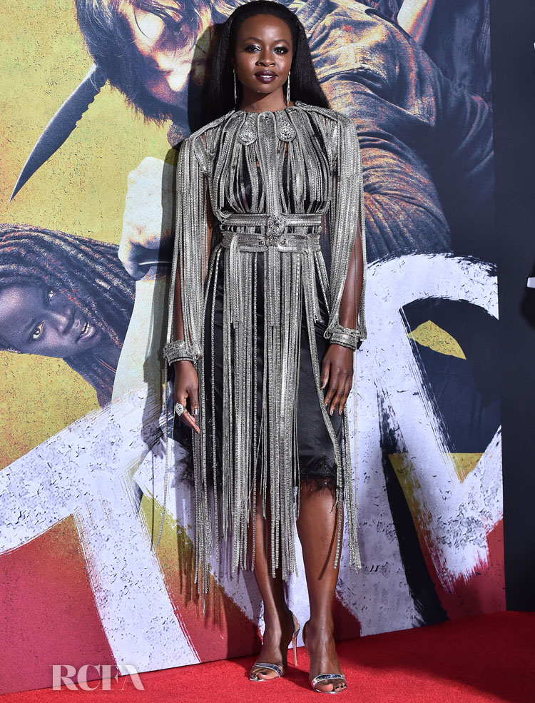 Danai Gurira Sees The Fringe Benefits In Christopher Kane At 'The Walking Dead' LA Screening