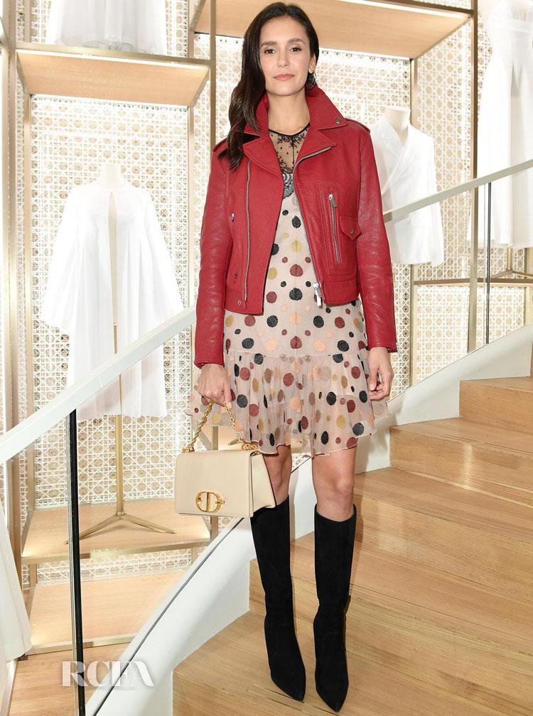 Nina Dobrev Dior's Champs-Elysees Store Opening