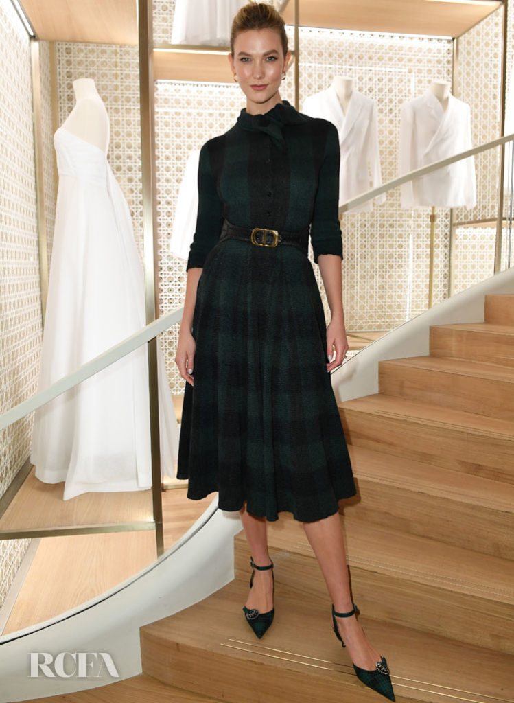 Karlie Kloss Dior's Champs-Elysees Store Opening