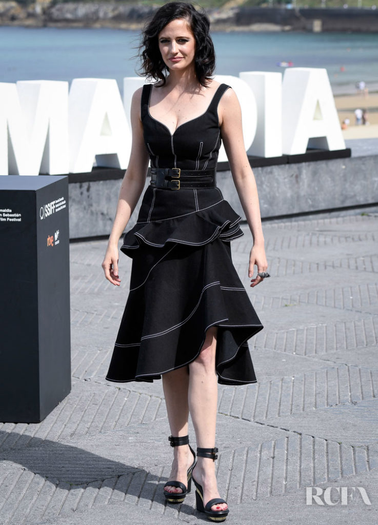 Eva Green Goes From Asymmetric To Galactic In  Iris van Herpen Haute Couture Promoting 'Proxima' At  San Sebastian Film Festival