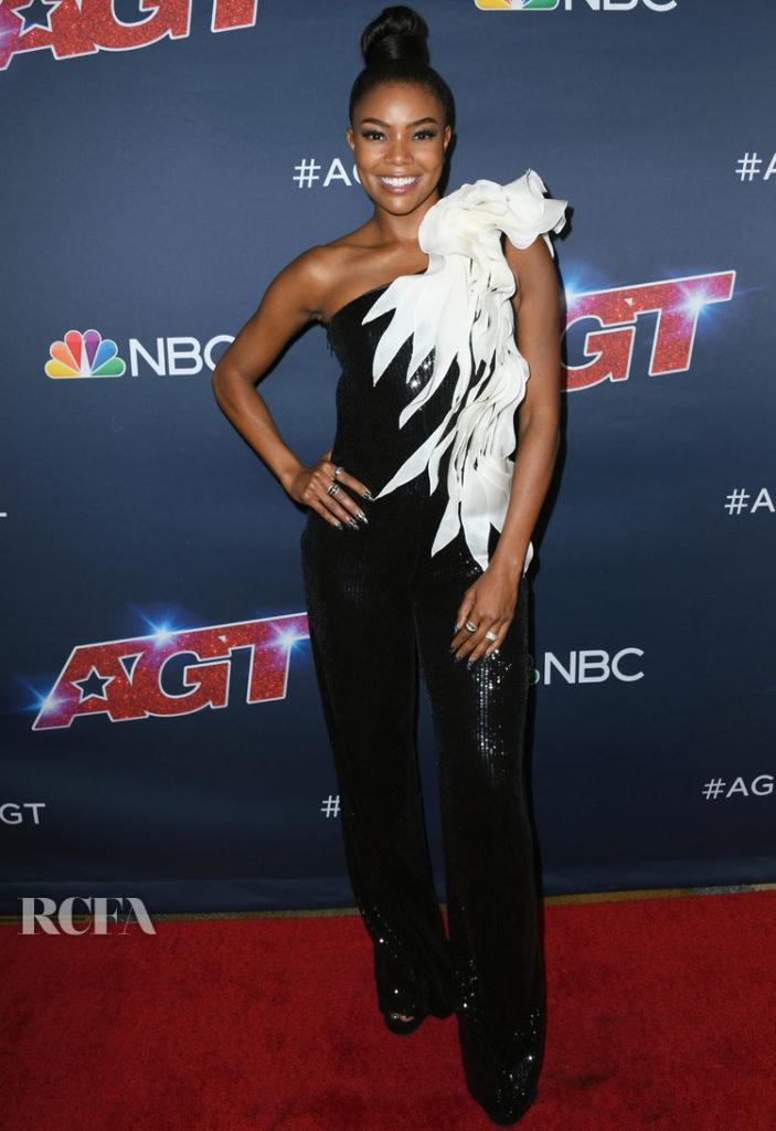 Gabrielle Union Rocks An Embellished Jumpsuit For  America's Got Talent Finale Week
