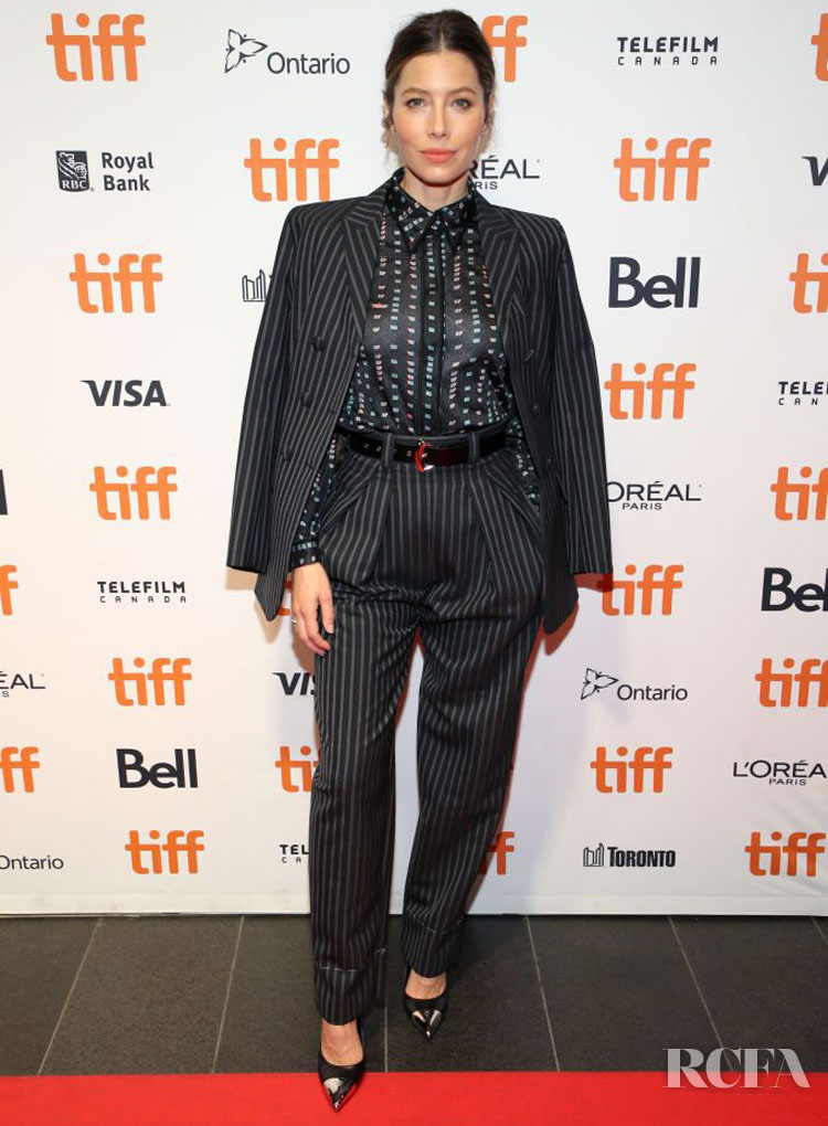 Jessica Biel In Louis Vuitton & Fendi - 'Limetown' Toronto  Film Festival Premiere