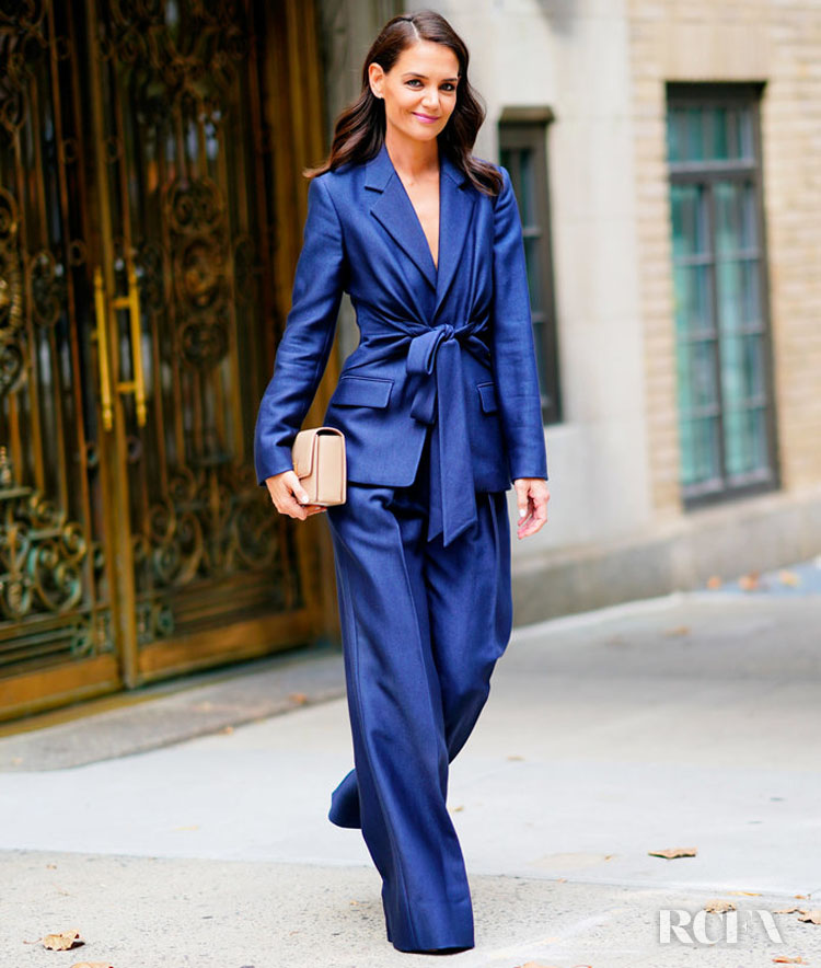 Katie Holmes Was Gorgeous In Gabriela Hearst For The Global Citizen Press Conference