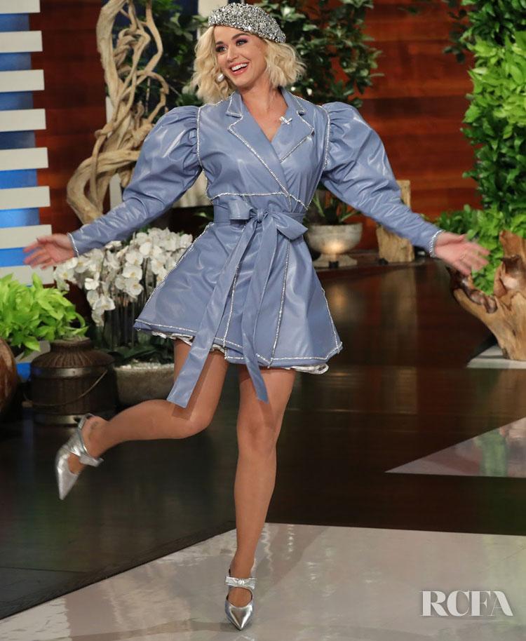 Katy Perry Rocks Two Christian Cowan Looks On The Ellen DeGeneres Show