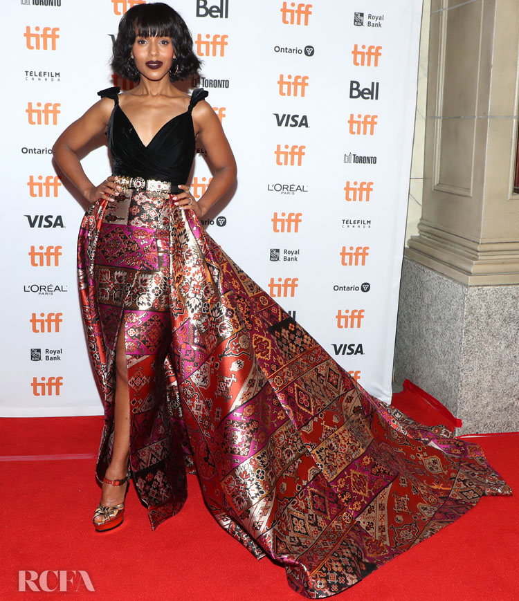 Kerry Washington In Zuhair Murad Couture - 'American Son' Toronto Film Festival Premiere