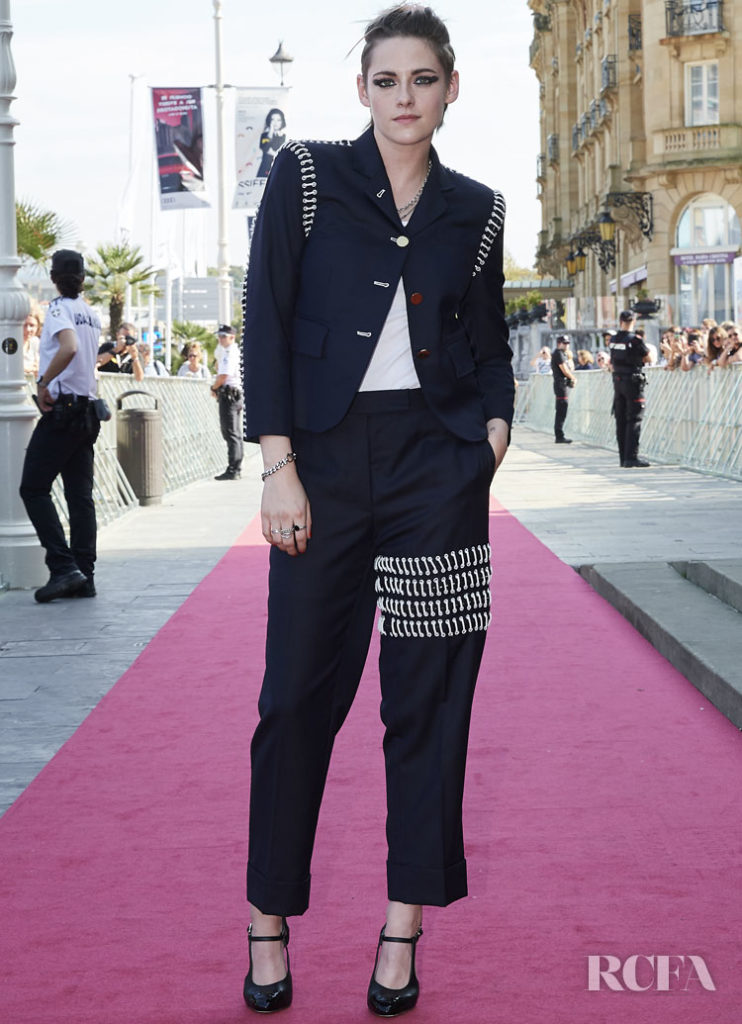 Kristen Stewart's Laces On A Suit For The 'Seberg' San Sebastian Film Festival Premiere