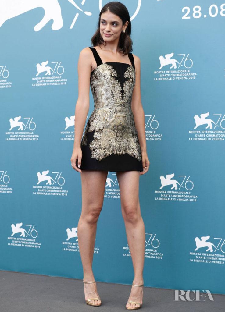 Laysia De Oliveira In Etro & Reem Acra - 'Guest of Honour' Venice Film Festival Photocall & Premiere