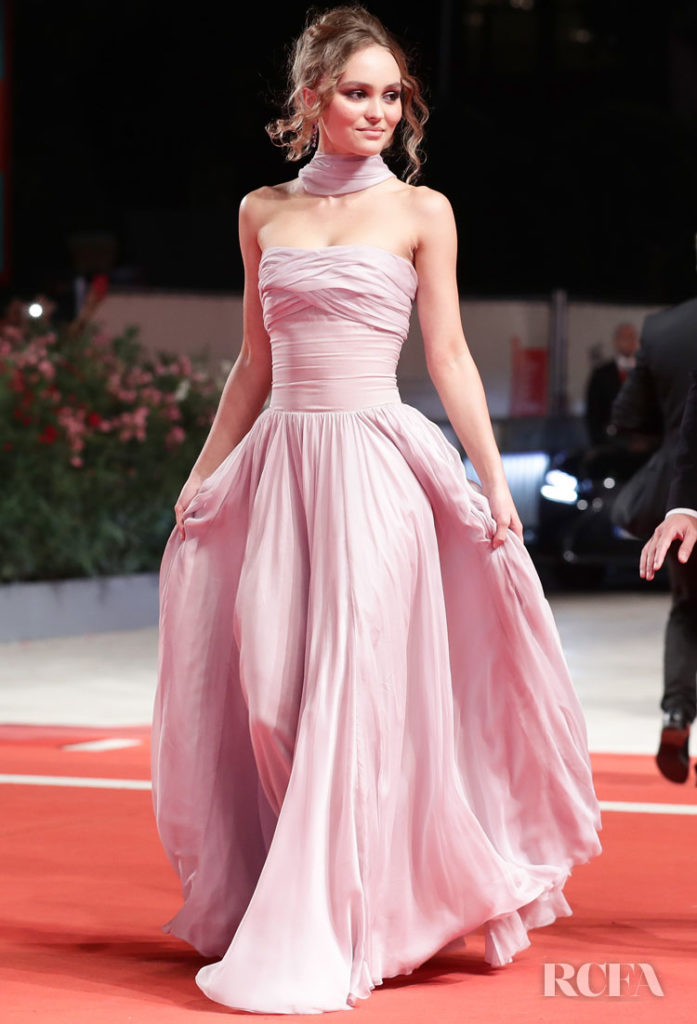 Lily-Rose Depp In Chanel Haute Couture - 'The King' Venice Film Festival Premiere