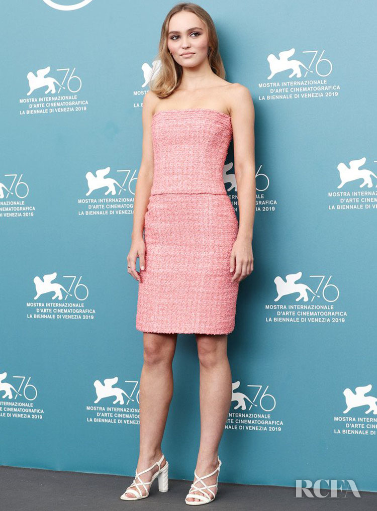 Lily-Rose Depp In Chanel  - 'The King' Venice Film Festival Photocall