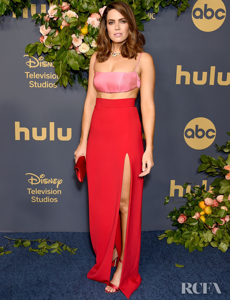 Mandy Moore Swaps Brandon Maxwell, For Brandon Maxwell At The Walt Disney Emmy Party