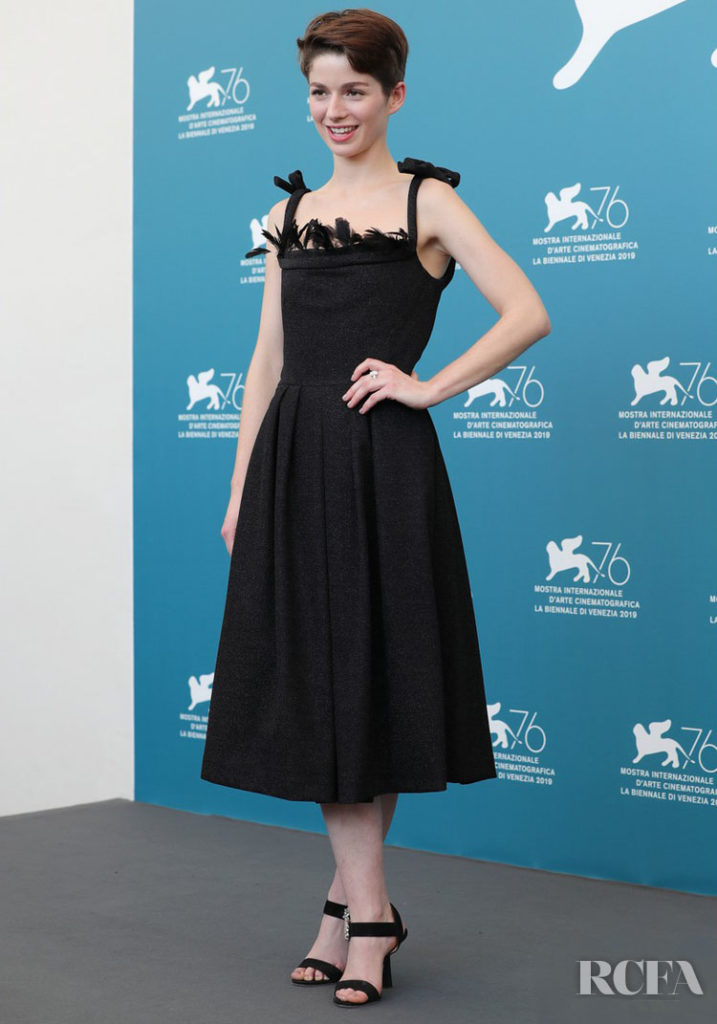 Mariana Di Girolamo In Marco de Vincenzo & Alberta Ferretti Limited Edition - 'Ema' Photocall & Premiere
