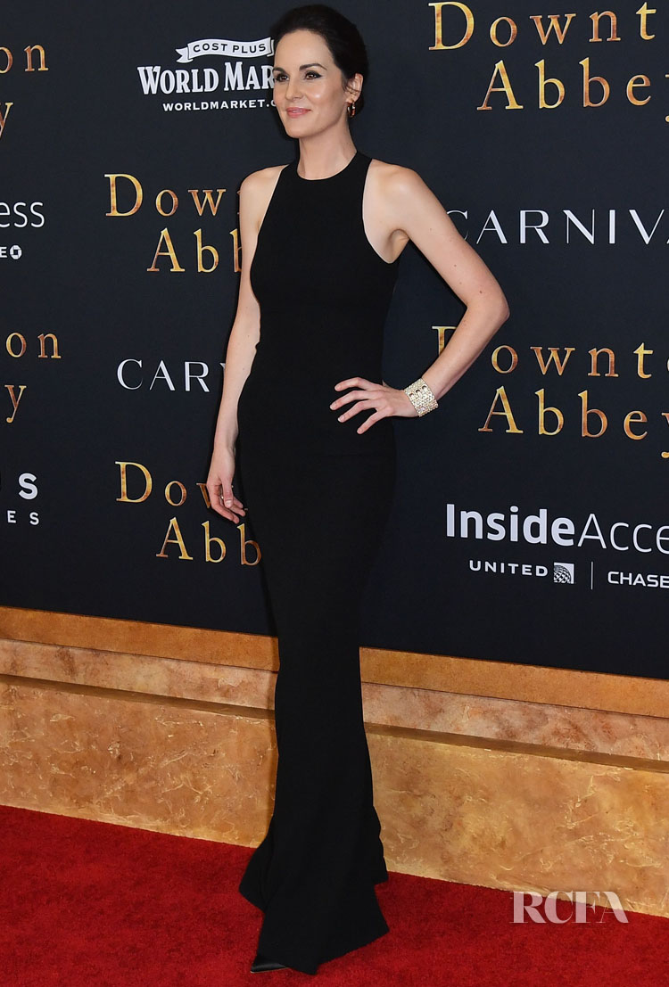 Michelle Dockery Looked Statuesque In Black For The 'Downton Abbey' New York Premiere