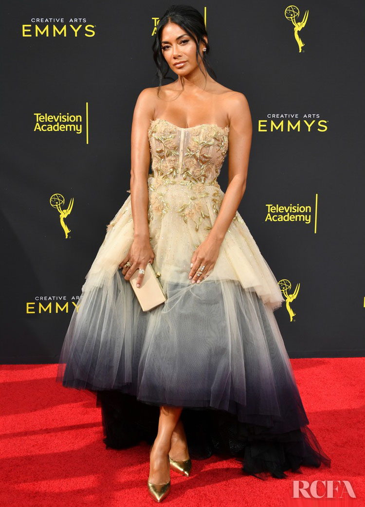 Nicole Scherzinger In Pamella Roland - 2019 Creative Arts Emmy Awards