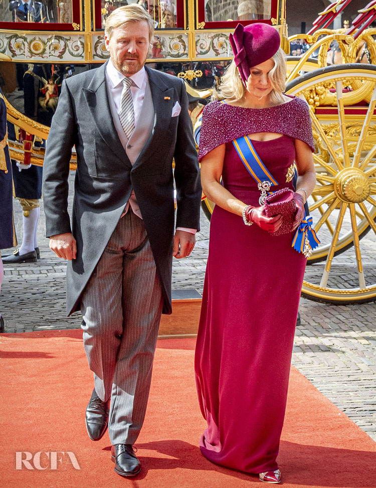 Queen Maxima Wears Her Go-To Designer Jan Taminiau For Prinsjesdag