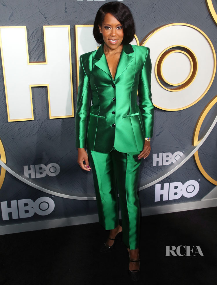 Regina King's Green Glam In Christopher John Rogers For The HBO Emmy Awards After Party