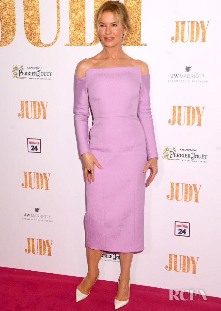 Renée Zellweger, Lovely In Lavender Emilia Wickstead For The 'Judy' London Premiere