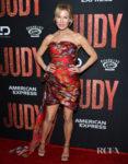 Renée Zellweger's Oscar de al Renta Autumnal Reds For The 'Judy' LA Premiere
