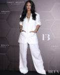Rihanna's Was All White For The Fenty Beauty Seoul Photocall