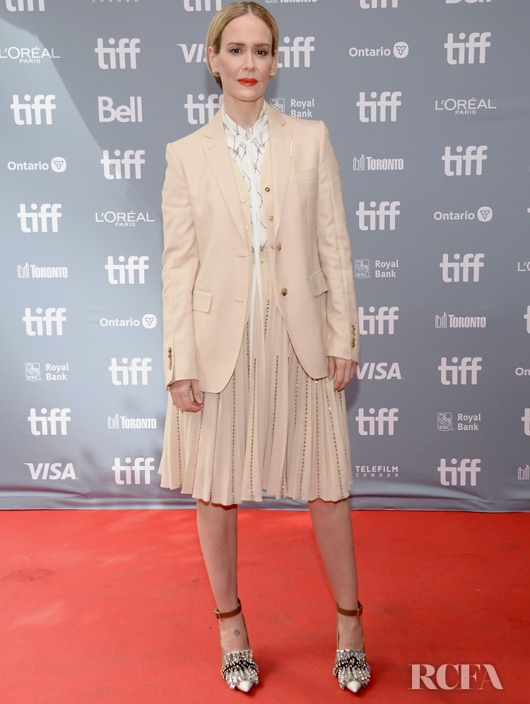 Sarah Paulson In Miu Miu, Burberry & Prada  - 'Abominable' & 'The Goldfinch' & Toronto Film Festival Premieres