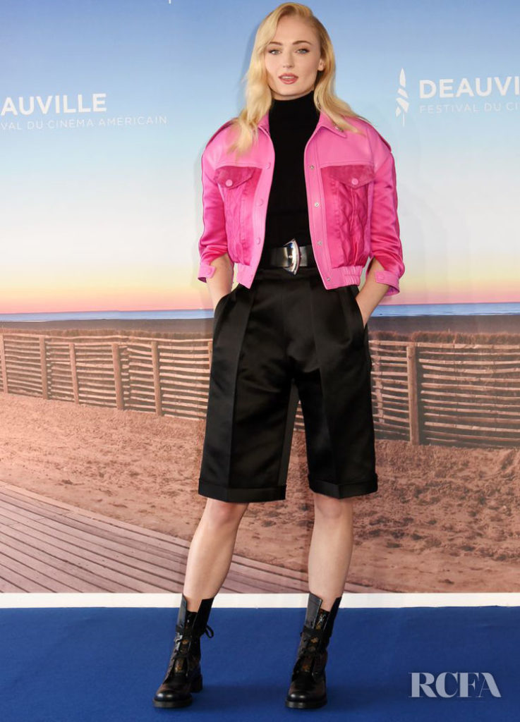 Sophie Turner In Louis Vuitton – 'Heavy' Deauville Film Festival Photocall & Premiere