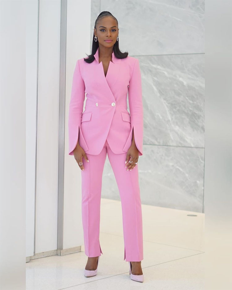 Tika Sumpter Channels Her Inner Pink Panther For Good Morning America
