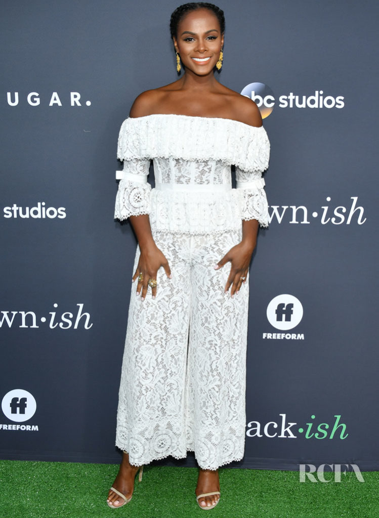 Tika Sumpter Delights In White Lace For The POPSUGAR x ABC 'Embrace Your Ish' Event