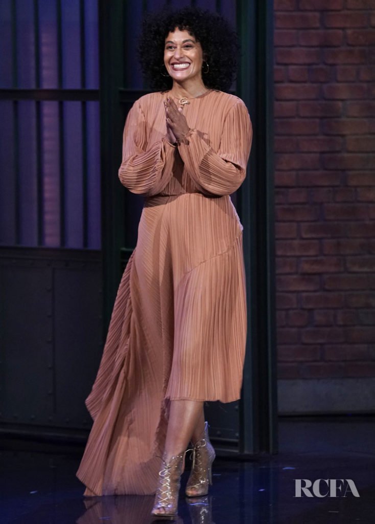 Tracee Ellis Ross In Preen by Thornton Bregazzi - Late Night with Seth Meyers