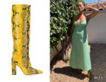 Tracee Ellis Ross' Paris Texas Snakeskin Effect Boots