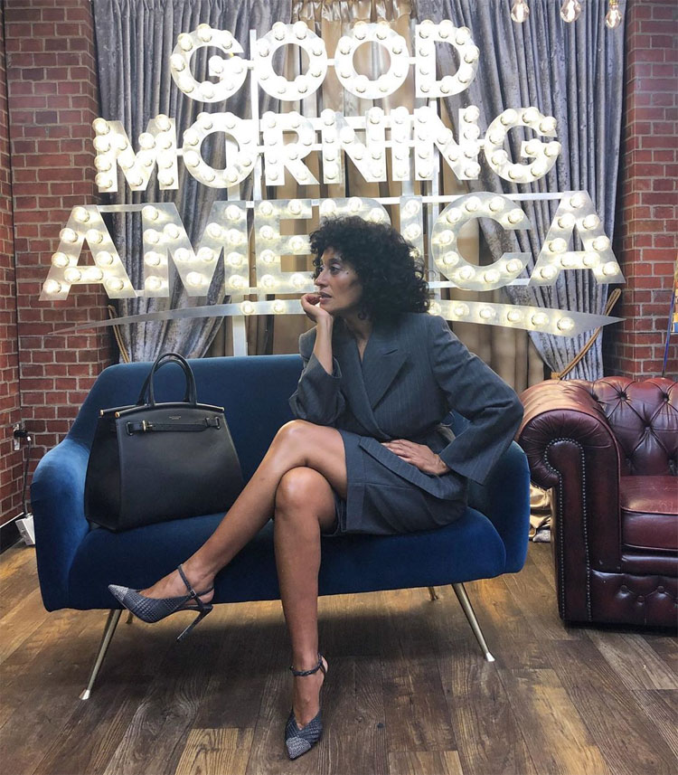 Tracee Ellis Ross Suits Up For Good Morning America