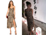 Vanessa Hudgens ASTR the Label Cowl Strappy Dress