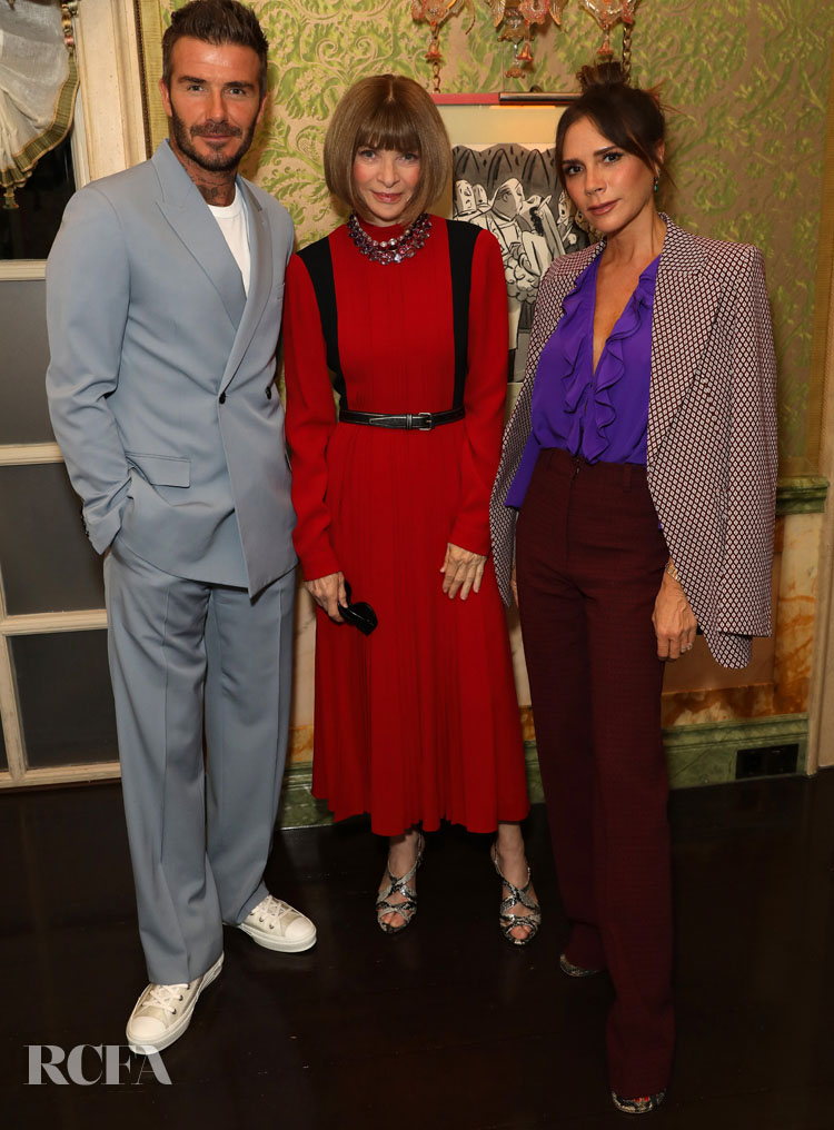 Victoria Beckham Celebrates Her Spring 2020 Collection In Style
