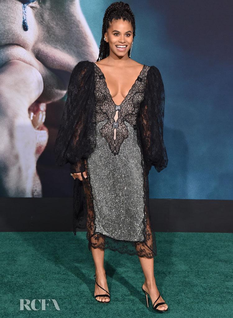 Zazie Beetz In Christopher Kane - Joker LA Premiere