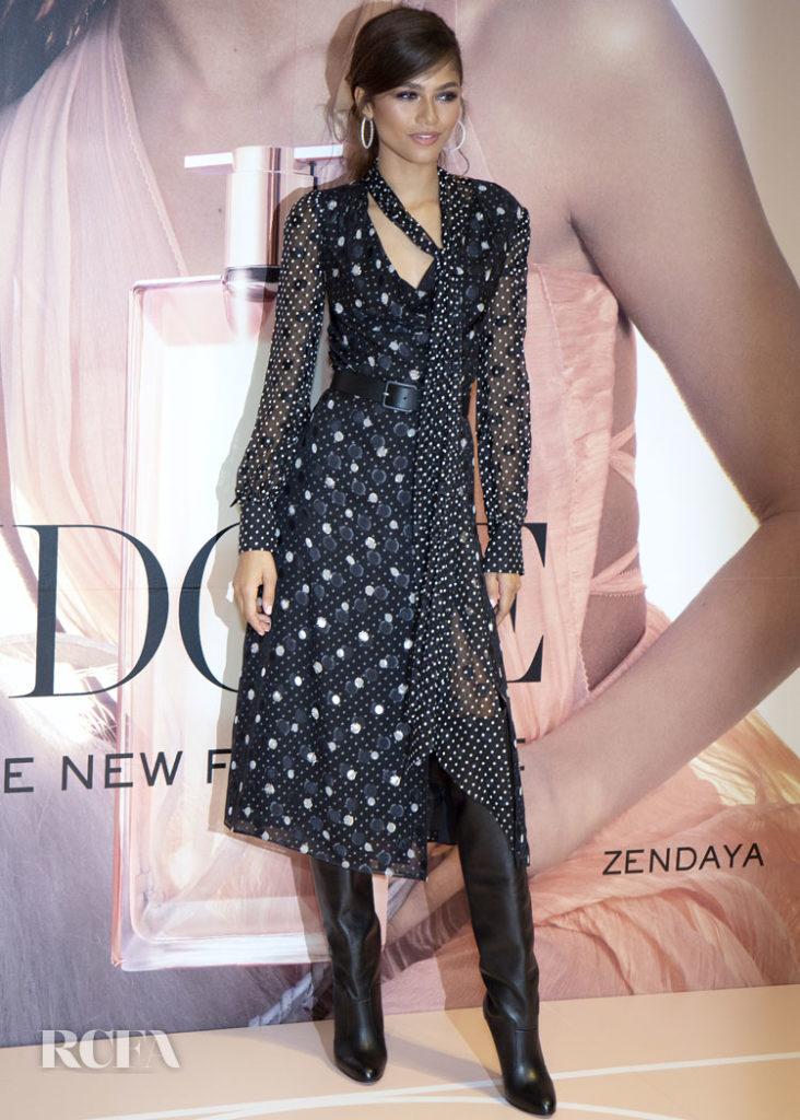 Zendaya Coleman's Large Spots & Polka Dots For The Lancôme Idôle Fragrance Launch Celebration