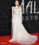 Angelina Jolie Goes From Black Widow To Snow White For The 'Maleficent: Mistress of Evil' London Premiere
