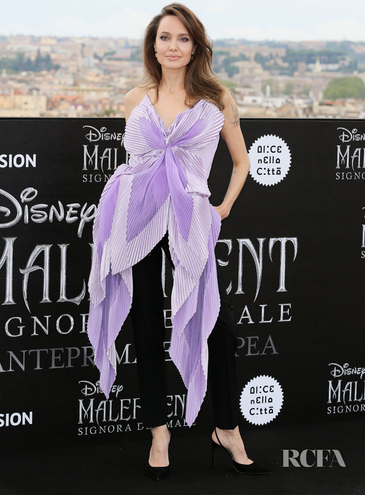 Angelina Jolie Blossoms In Givenchy Haute Couture For The