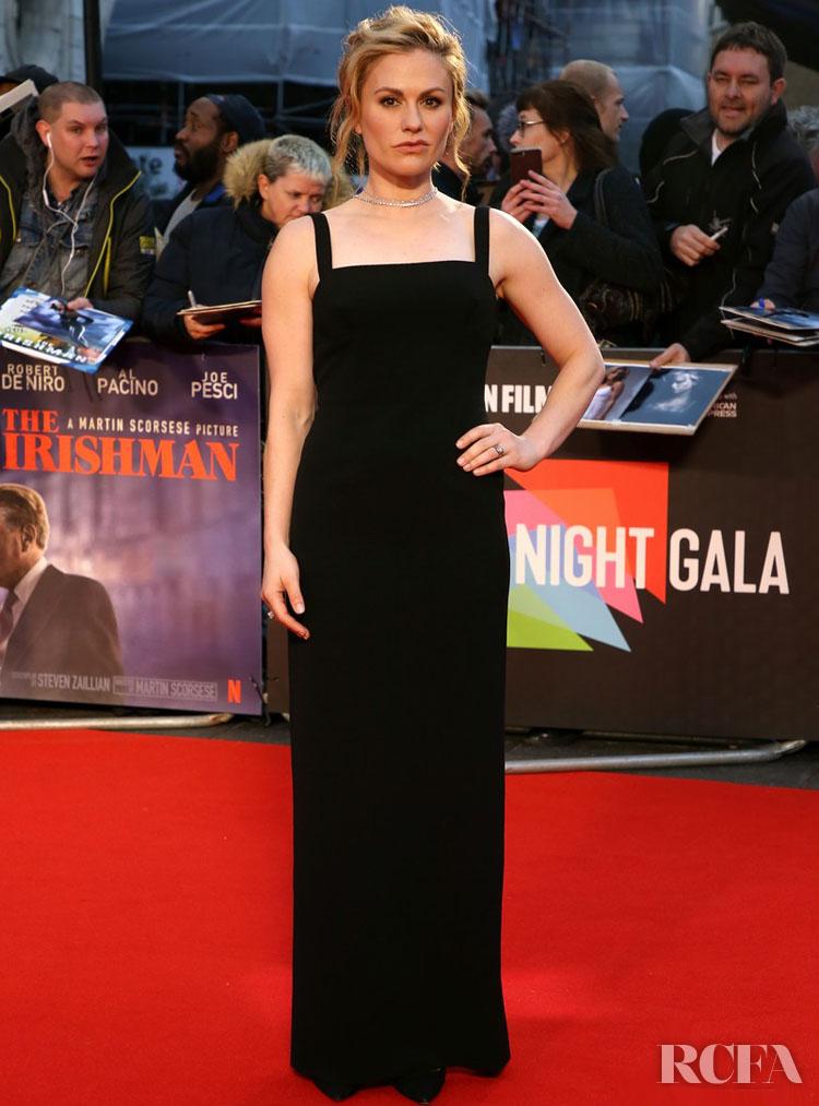 Anna Paquin Goes Back To Black For 'The Irishman' London Film Festival Premiere
