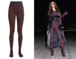Beyonce Knowles Marine Serre Crescent Moon-Print Leggings