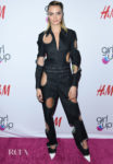 Cara Delevingne Dons A Unique Cut-Out Denim Jumpsuit For The 2nd Annual Girl Up #GirlHero Awards