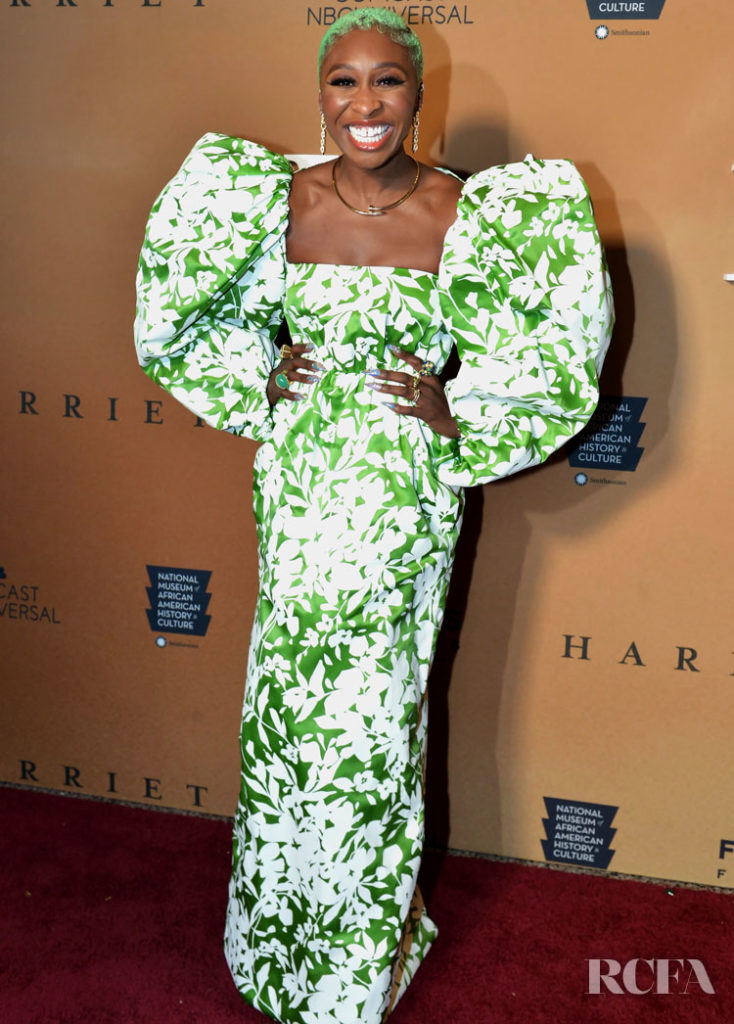 Cynthia Erivo In Rosie Assoulin - 'Harriet' Washington DC Premiere